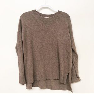 CHELSEA28 CREWNECK PULLOVER KNIT SWEATER BROWN M